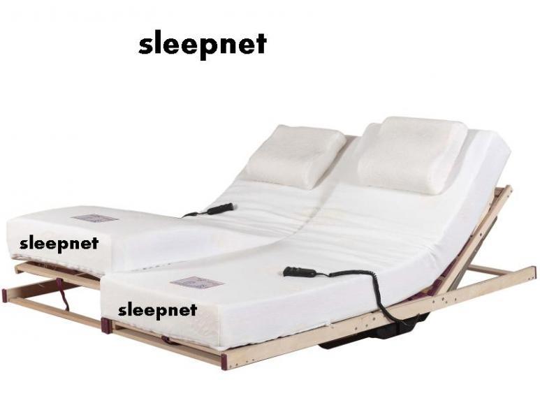 טוב מאוד מיטה זוגית מתכווננת מבית סימונס הכוללת 2 מנגנונים מתכווננים LV-01