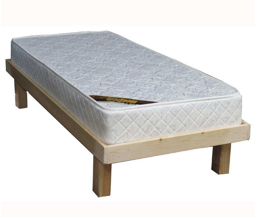מתוחכם מיטת יחיד מעץ אורן מלא + מזרון קפיצים אורטופדי קינג דויד KING ED-77