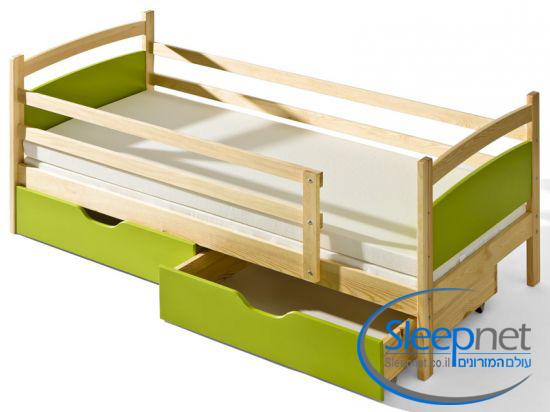 מודרניסטית מיטת ילדים דגם פיבי מעץ מלא + מזרן SLEEPNET - SLEEPNET - מיטות במבצע ZL-34