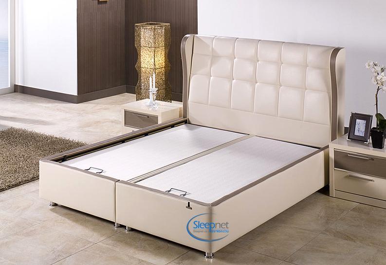 מתקדם מיטת זוגית מרופדת + ארגז מצעים + ראש מיטה דגם BOLIVYA Bellona PQ-78