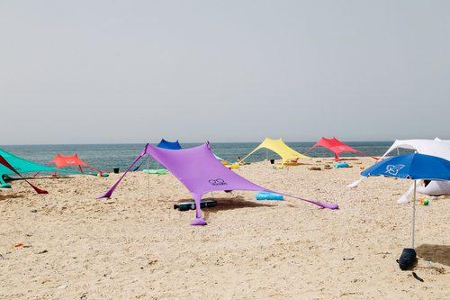סנסציוני צילייה לים shades - שמשייה לים קלה להקמה ולנשיאה במגוון צבעים RQ-06