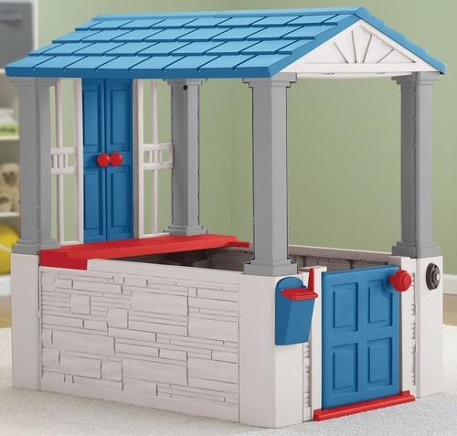 מודיעין בית משחק לילדים 'בית החלומות' עם גג ופעמון American Plastic IZ-93
