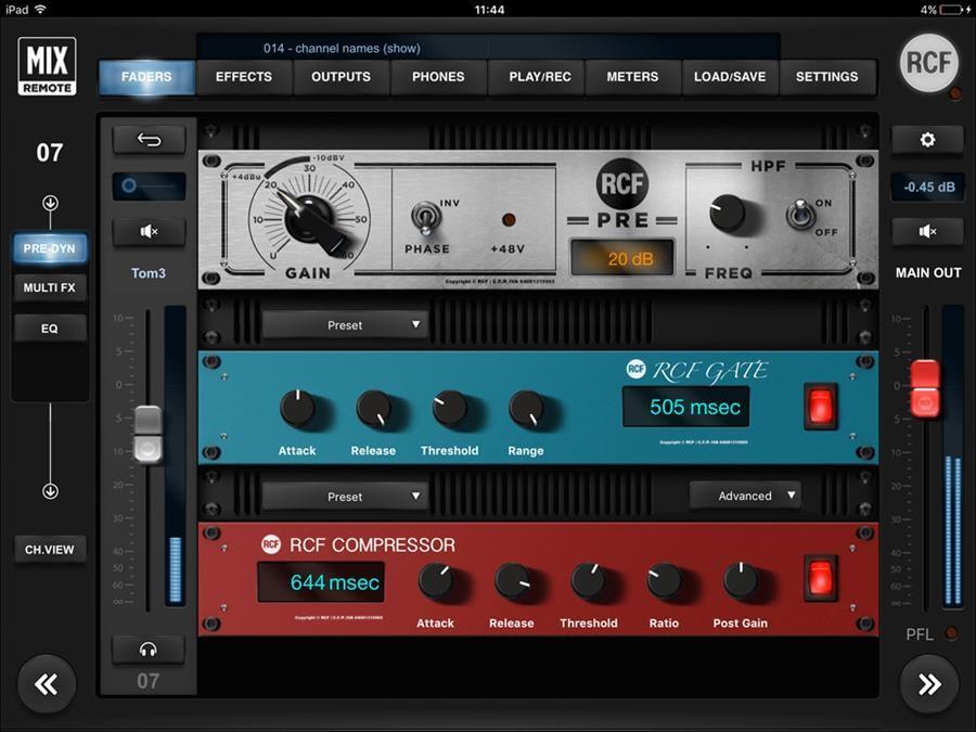 ממשק PRE AMP