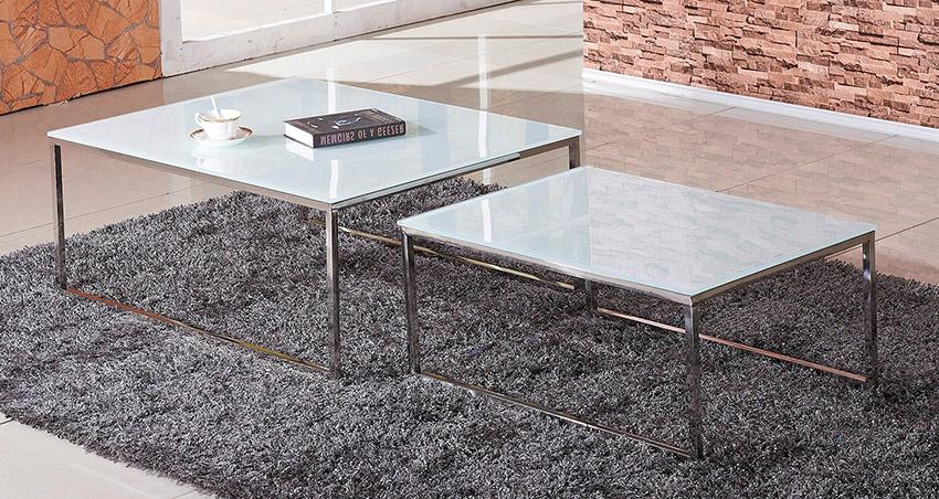 מתוחכם סט שולחן סלון מזכוכית דגם A 801 SLEEPNET - SLEEPNET - שולחנות לסלון AW-39