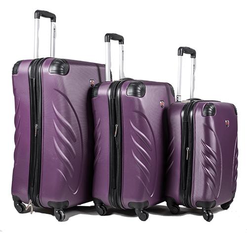 סופר CarryOnline   סט 3 מזוודות קשיחות במבצע   Swiss Travel Club DH-96