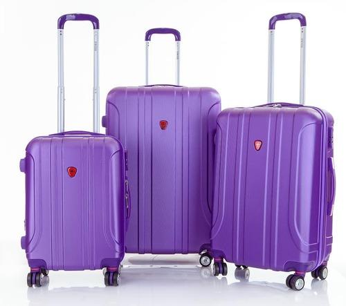 אדיר מזוודות swiss סט, 4 גלגלים , 20cm 24 cm 28 ZU-65