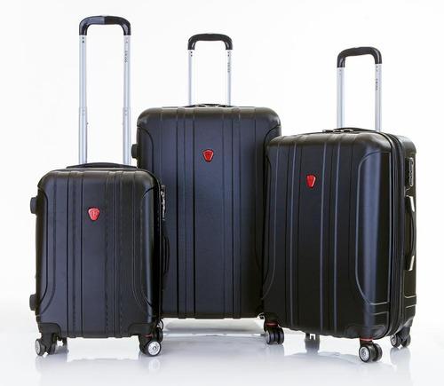 מגה וברק מזוודות swiss סט, 4 גלגלים , 20cm 24 cm 28 HF-02