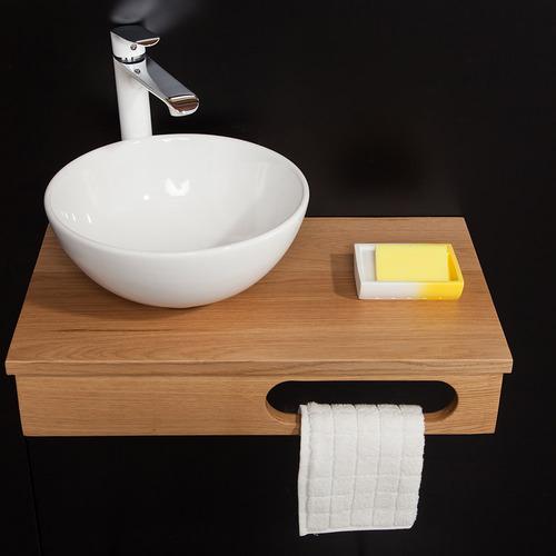 הגדול משטח עץ +כיור מונח דגם מאסט עץ מלא - ארונות אמבטיה BZ-08