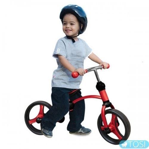 האחרון אופני איזון 2 ב 1 - באדום סמארט טרייק - SmarTrike - אופניים BS-35