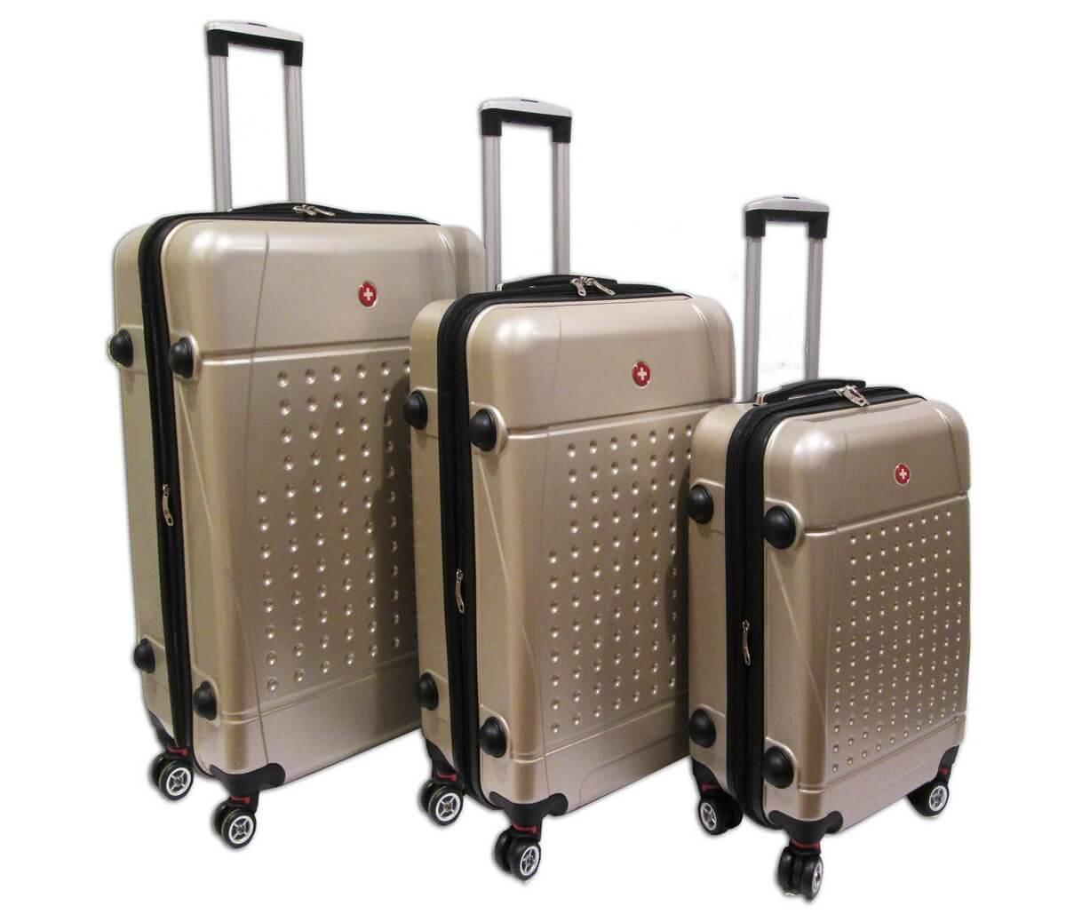 בנפט CarryOnline - סט מזוודות קשיחות במבצע Swiss Travel EQ-95