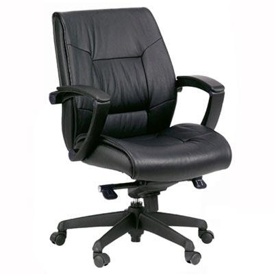 מתוחכם כיסא מנהלים אורטופדי ומפואר מעור אמיתי עם ידיות PP מתכוננות ורגל PZ-71