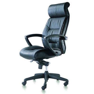 מיוחדים פנטגון מנהל גבוה כסא מנהלים אורטופדי ומפואר מעור אמיתי עם ידיות PP QG-55
