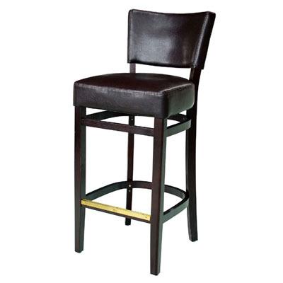 ניס יקינטון כסא בר מרופד דמוי עור PU מעץ מיליון כסאות - מיליון כסאות NW-25