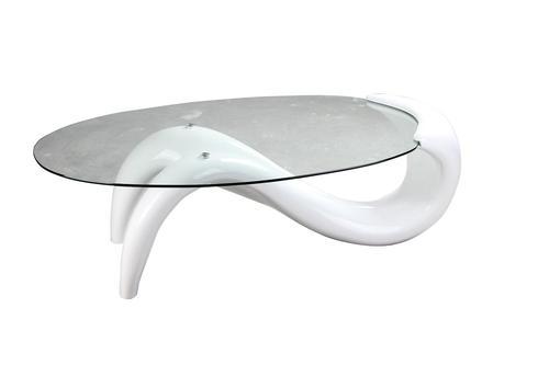 אדיר סוזן שולחן סלון זכוכית שקופה בסיס פלסטיק - סלון ואירוח PU-47