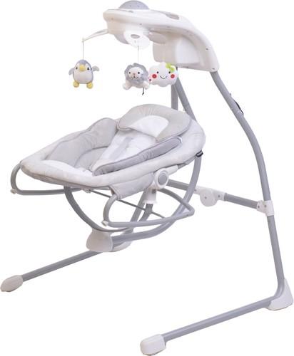 הוראות חדשות נדנדה חשמלית לתינוק משולבת טרמפולינה BY028 - בז' בייבי סייף - Baby SQ-86