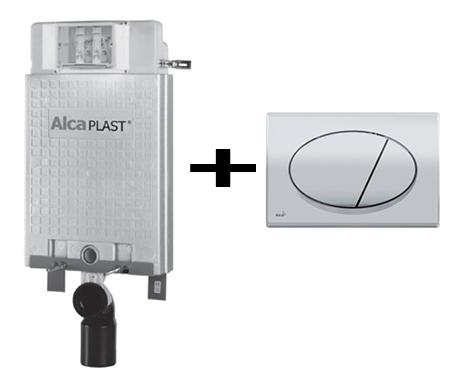 סופר מיכל הדחה סמוי ALCA פיקס + לחצן הפעלה - פלסאון - Plasson - מיכלי הדחה IF-81