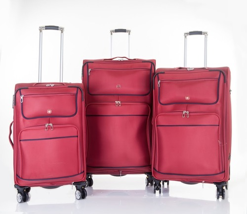 מגניב ביותר Swiss   סט 3 מזוודות דגם Everest# אדום Swiss Mountain - Swiss ZS-45
