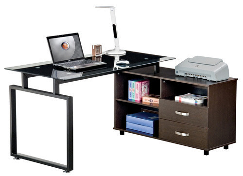 להפליא שולחנות משרדיים - שולחן משרדי, שולחן מחשב זכוכית, שולחן משרדי YW-29