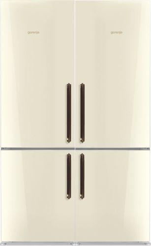 מדהים מקרר כפרי גורנייה SBS 4 דלתות מסדרת Classico זכוכית שמנת 742 ליטר YZ-69