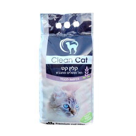 אדיר חול מתגבש וריחני לחתול קלין קט 18 ליטר - שרותים וחול לחתולים ND-21