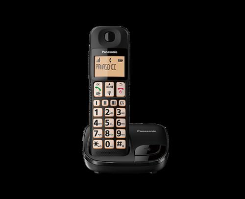 למעלה טלפון אלחוטי לכבי שמיעה וראיה Panasonic TGE110 פנסוניק - Panasonic FP-32