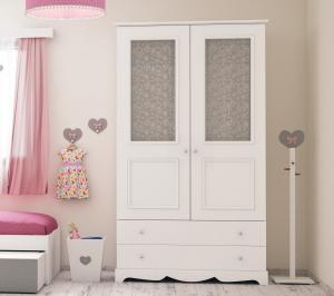 מסודר ארון ילדים עם זכוכית | ארונות ילדים | חדרי ילדים ZF-73