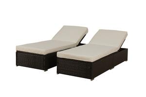 BroyerK 3-piece Outdoor Rattan Lounge Patio Furniture Set  sc 1 st  BroyerK & outdoor chaise lounge   patio chairs   patio set : broyerk