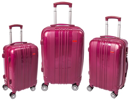 אולטרה מידי סט 3 מזוודות סוויס Venus PP בלתי שביר צבע בורדו Swiss Mountain BP-24