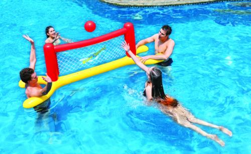 הוראות חדשות רשת כדורעף צף עם כדור - מתנפחים לבריכות NZ-07