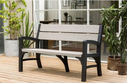 הוראות חדשות ספסל גינה תלת מושבי דגם מנטרו כתר - KETER - כסאות פלסטיק HP-89