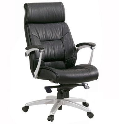 מודרניסטית כסא מנהלים אורטופדי ומפואר מעור אמיתי עם ידיות PP מתכוננות ורגל MY-44