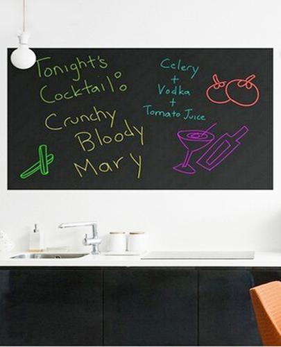 מעולה מדבקת קיר לוח גיר (200*45) גירים צבעוניים - מתנות לבית ולגינה IT-48