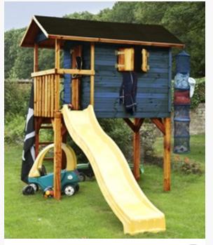 ענק גרדן סייל - Gardensale - בית עץ לילדים גבוה על עמודים RQ-24