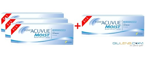 האופנה האופנתית מבצע 3 + 1 One Day Moist For Astigmatism Johnson and johnson LO-61