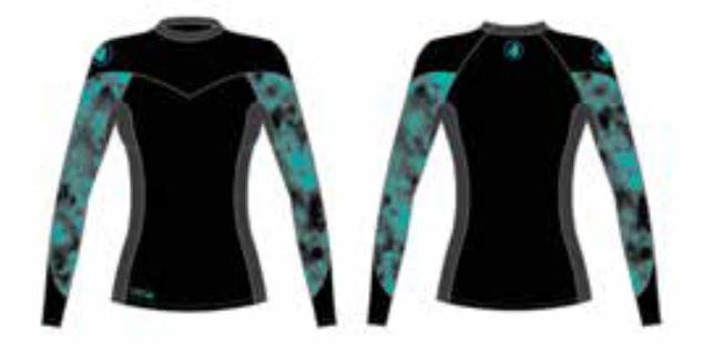 מצטיין חולצת גלישה נשים 2017/18 BODY GLOVE - - חליפות גלישה FI-92