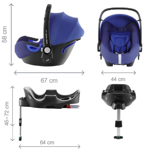 סלקל Baby Safe i-Size עם בסיס איזופיקס מתכוונן - כחול