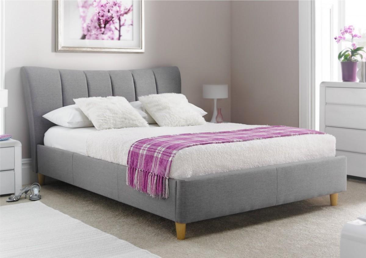 סנסציוני מיטה זוגית עם ארגז מצעים מבית GAROX דגם TERESA מרופדת בד - Garox FX-42
