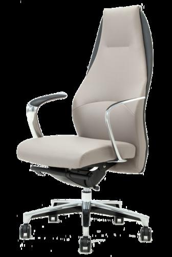 ענק כסא מנהלים יוקרתי PICASSO מנגנון סינכרוני מרופד עור אמיתי ודמוי SS-67