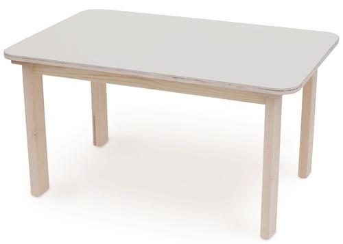 מעולה שולחן מוארך מעץ מלא לילדים במידה 90 על 60 ס'מ - שמנת סופר עץ NU-97