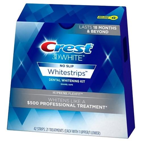 מודיעין קרסט ערכה להלבנת שיניים 42 פסים! crest supreme flexfit - crest MP-95