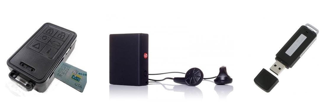 Aparelhos de escuta e gravadores de voz