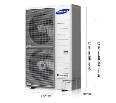 מתקדם מערכת מיני VRF של SAMSUNG תלת פאזי למיזוג של עד 8 חדרים XD-61