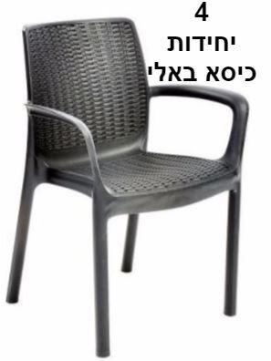 מסודר גרדן סייל - Gardensale - 6 כסאות באלי כתר פלסטיק WI-04