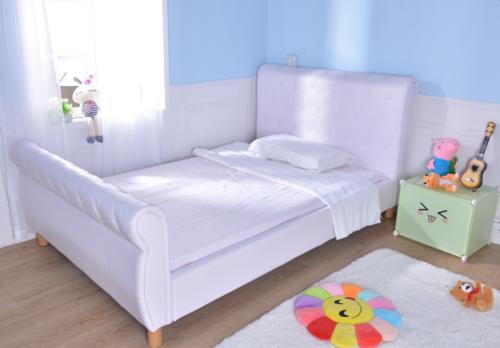 מגניב ביותר מיטה וחצי / מיטת נוער - דגם נסיכה בשילוב כפתורי קפיטונאז' תואמים AE-97