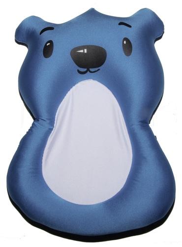 סופר צפטף - כרית אמבטיה לתינוק עם לולאת תליה לייבוש - דובי כחול ליטף HU-65