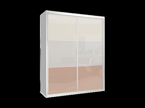 מצטיין ארון 2 דלתות GE 140 דלתות זכוכית - כרמל ארונות הזזה CV-38
