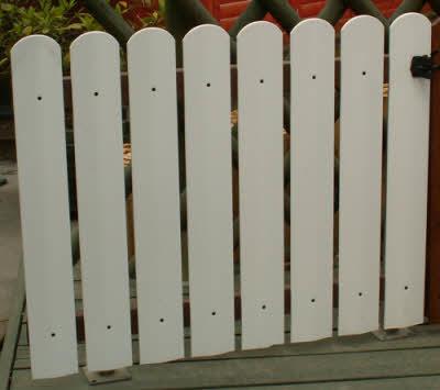 מפוארת גדר PVC | גדר לבנה | צוות גדרון BM-56