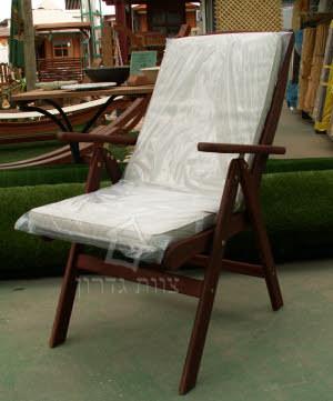 טוב מאוד כסא מתקפל מעץ טיק בורמזי 5 מצבים YR-36