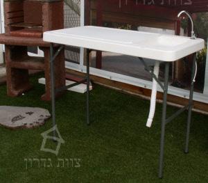 מבריק שולחן נפתח עם כיור   לחצר ולברביקיו   צוות גדרון GA-09