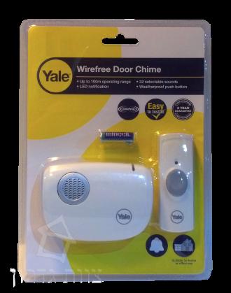 פנטסטי פעמון דלת אלחוטי 32 צלילים YALE CU-12